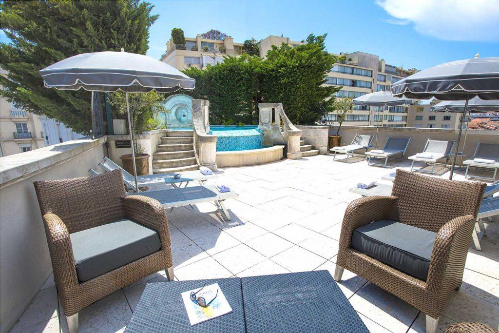 Toit terrasse de l'Hôtel Cristal Cannes
